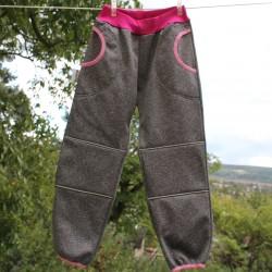 Kalhoty SOFTSHELL ŠEDÝ VII