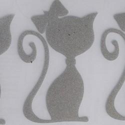 Reflexní nažehlovačky - kočky