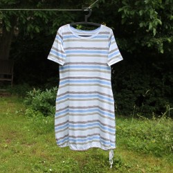 Šaty ŠEDO-MODRÝ PRUH