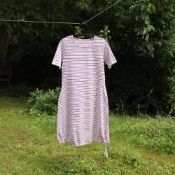 Šaty MODRO-ČERVENÝ PRUH